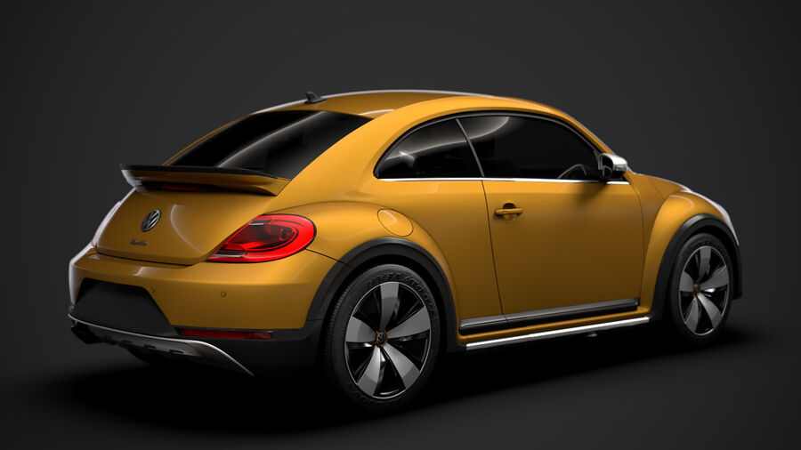 VW Beetle Dune 2020 royalty-free modelo 3d - Preview no. 3