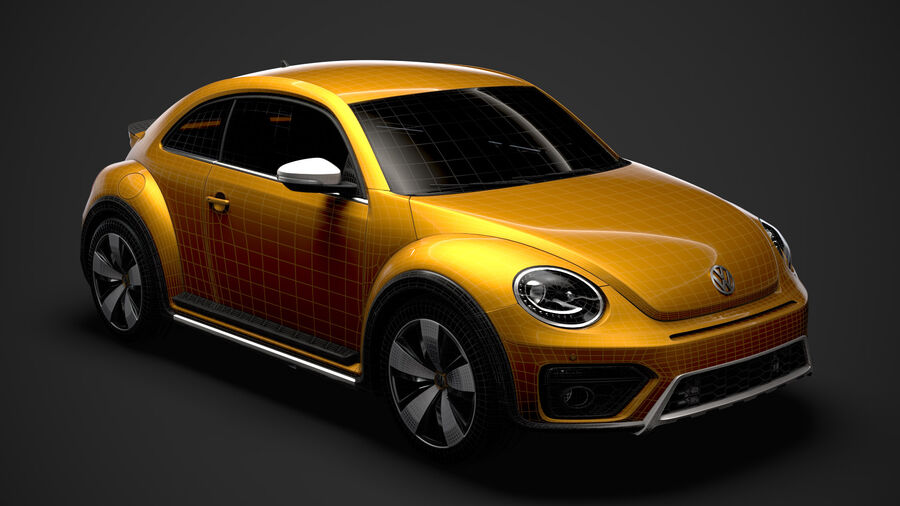 VW Beetle Dune 2020 royalty-free modelo 3d - Preview no. 29