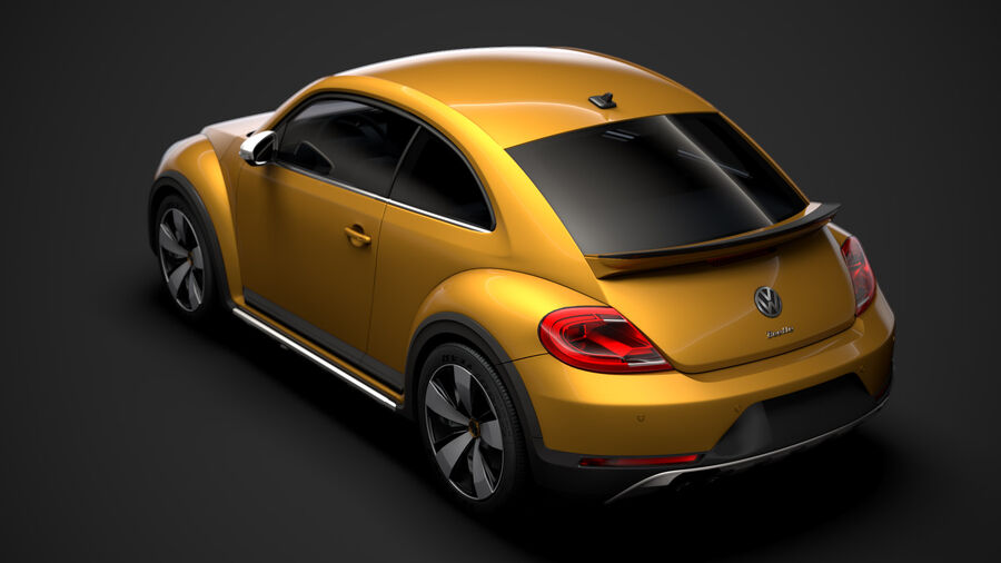 VW Beetle Dune 2020 royalty-free modelo 3d - Preview no. 4