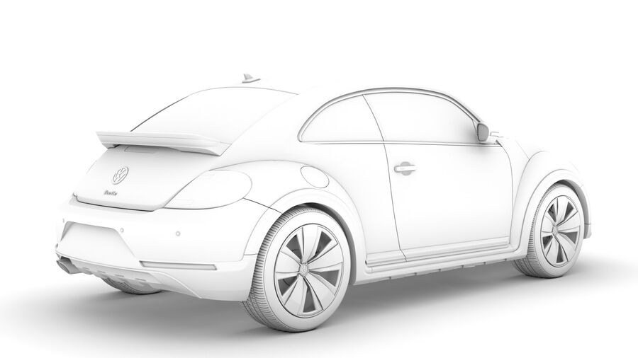 VW Beetle Dune 2020 royalty-free modelo 3d - Preview no. 17