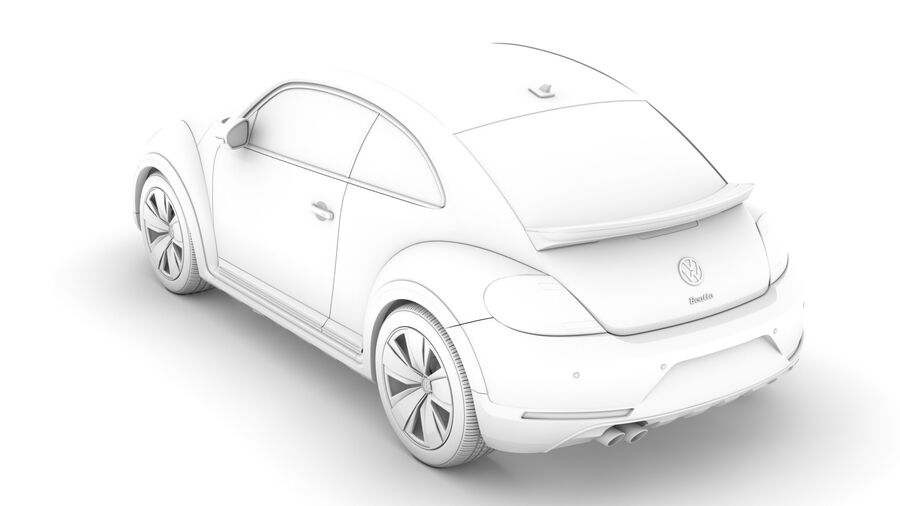 VW Beetle Dune 2020 royalty-free modelo 3d - Preview no. 18