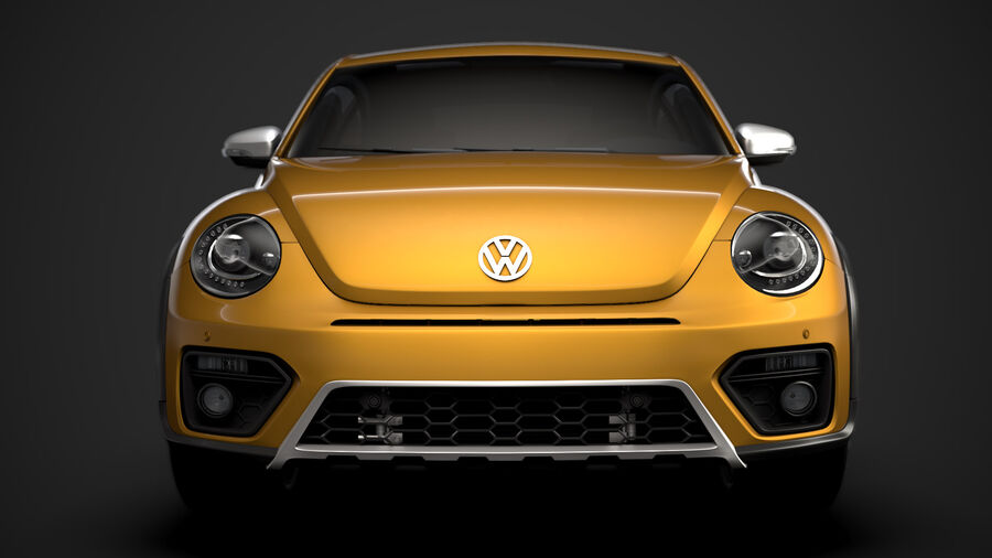 VW Beetle Dune 2020 royalty-free modelo 3d - Preview no. 7