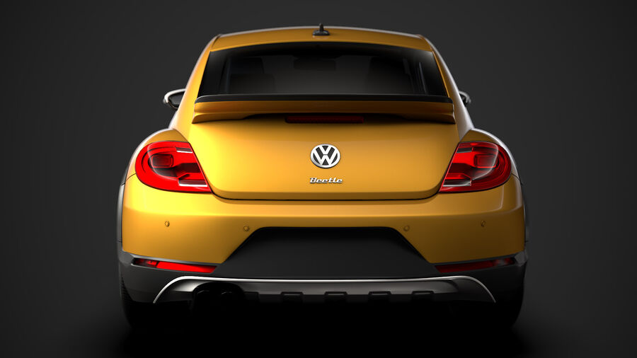 VW Beetle Dune 2020 royalty-free modelo 3d - Preview no. 14