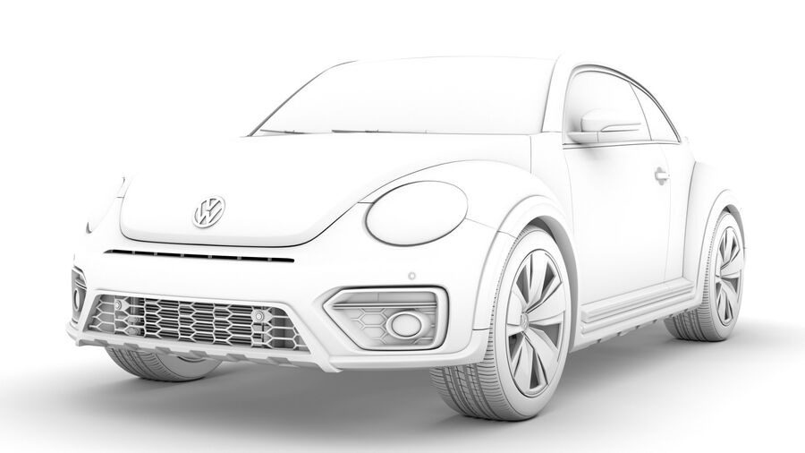 VW Beetle Dune 2020 royalty-free modelo 3d - Preview no. 23