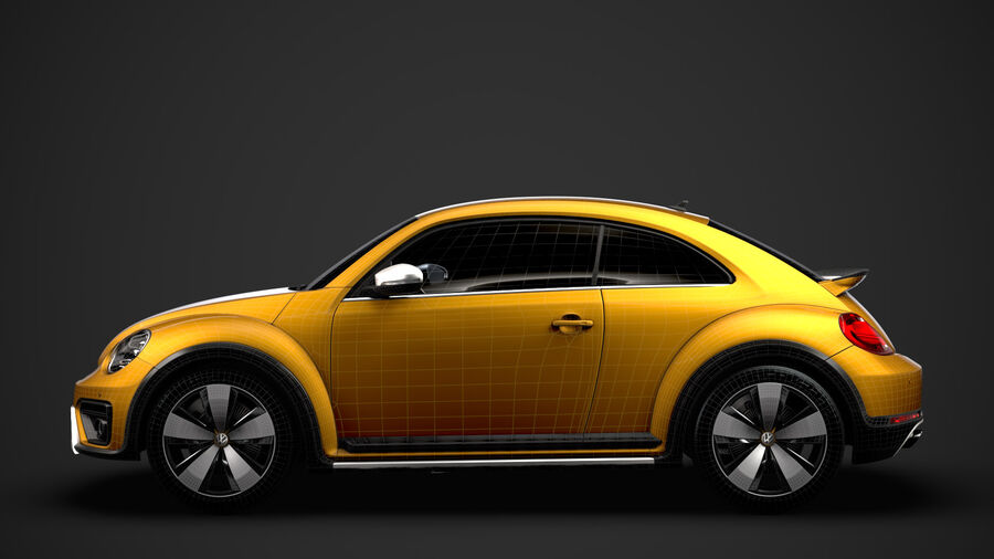 VW Beetle Dune 2020 royalty-free modelo 3d - Preview no. 34