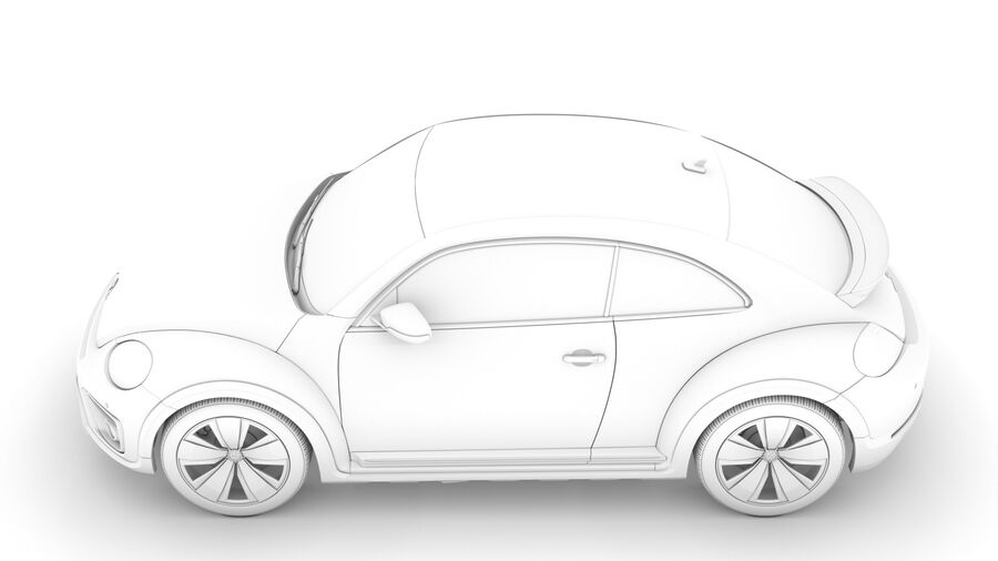 VW Beetle Dune 2020 royalty-free modelo 3d - Preview no. 19