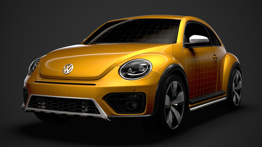 VW Beetle Dune 2020 royalty-free modelo 3d - Preview no. 37