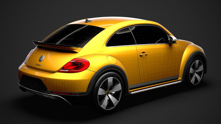 VW Beetle Dune 2020 royalty-free modelo 3d - Preview no. 39