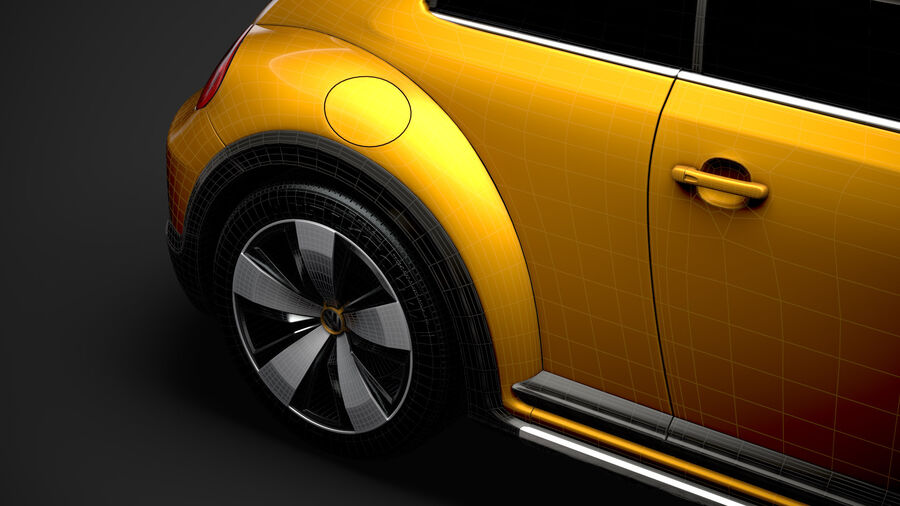 VW Beetle Dune 2020 royalty-free modelo 3d - Preview no. 40
