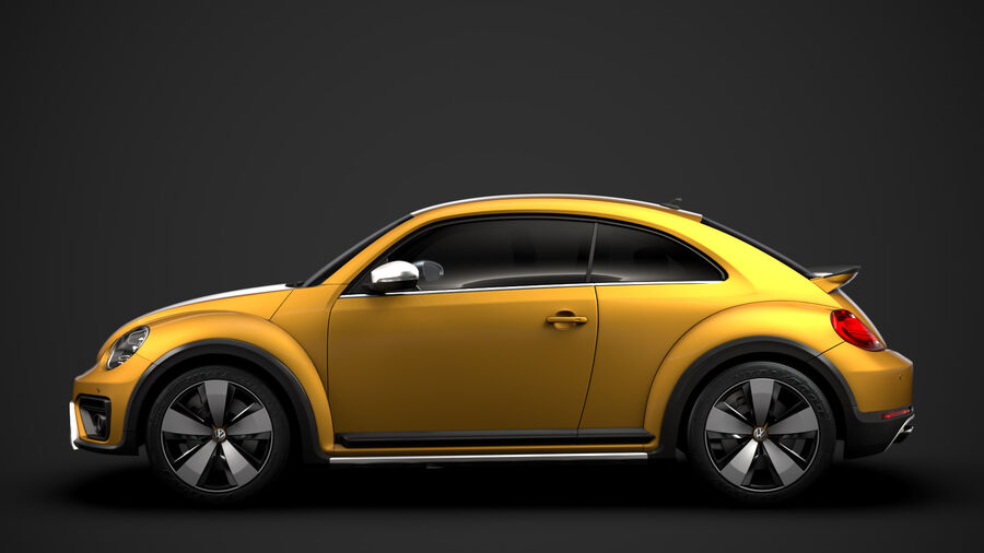 VW Beetle Dune 2020 royalty-free modelo 3d - Preview no. 6
