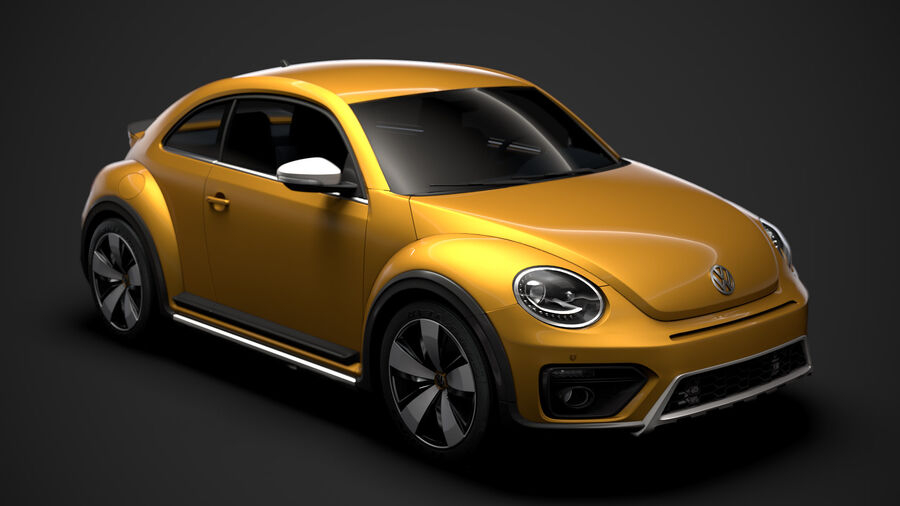 VW Beetle Dune 2020 royalty-free modelo 3d - Preview no. 1
