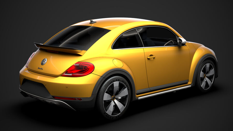 VW Beetle Dune 2020 royalty-free modelo 3d - Preview no. 11