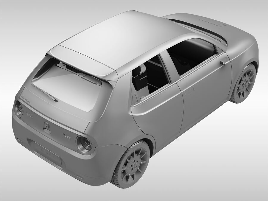 혼다 e (2021 년) royalty-free 3d model - Preview no. 9
