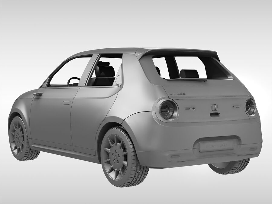 혼다 e (2021 년) royalty-free 3d model - Preview no. 8