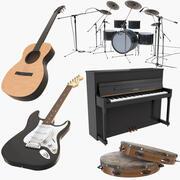 Collection d'instruments de musique 2 3d model