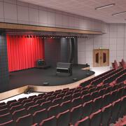 Концертный зал для фортепиано 3d model