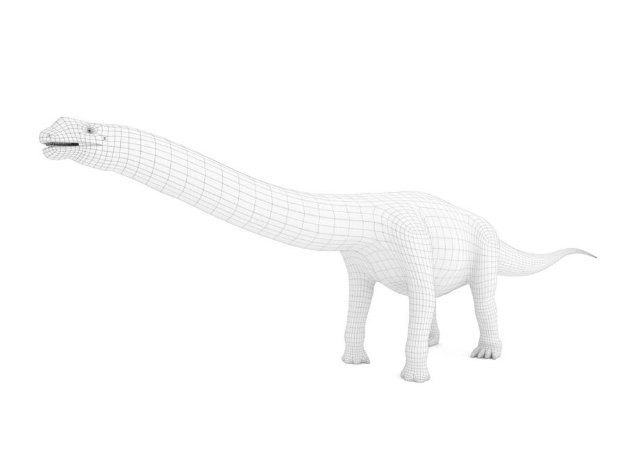 Argentinosaurus Rigged royalty-free 3d model - Preview no. 17