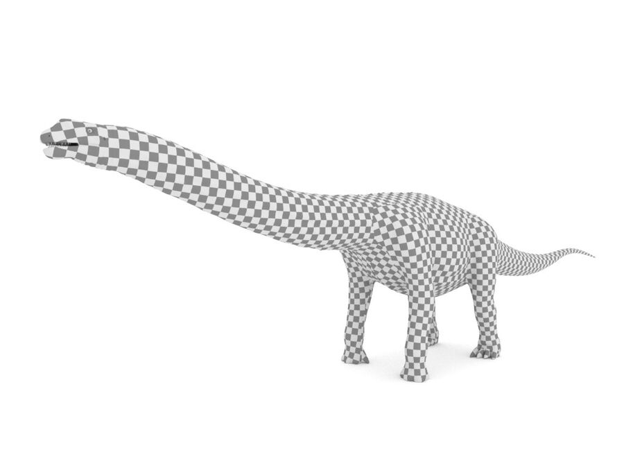 Argentinosaurus Rigged royalty-free 3d model - Preview no. 21