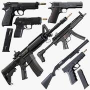 Collezione di armi 1 3d model
