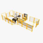 Cella di pallettizzazione 3d model