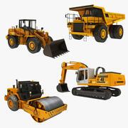 무거운 건설 기계 컬렉션 1 3d model