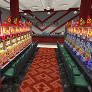 弹球游戏中心 3d model