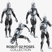 机器人02构成集合 3d model