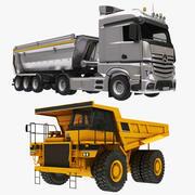 Collection de camions bennes et de camions miniers 3d model