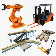 Collezione di attrezzature per la produzione in fabbrica 3d model