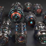 Sci Fi Mega Elements KITBASH - SUBDIVISION READY - Pack complet 3d model