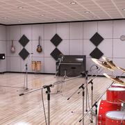 Salle de pratique musicale 3d model