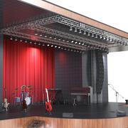 Escena del concierto modelo 3d
