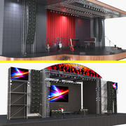 Kolekcja etapów koncertu 3 3d model