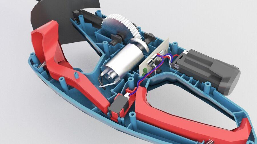 Bateria do aparador de sebes de baixa polimerização interna (2) royalty-free 3d model - Preview no. 1