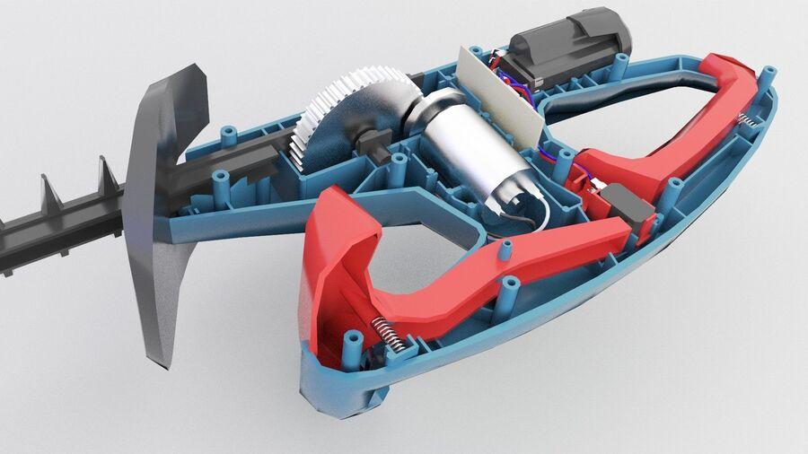 Bateria do aparador de sebes de baixa polimerização interna (2) royalty-free 3d model - Preview no. 3