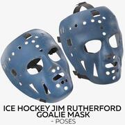 Ice Hockey Jim Rutherford Goalie Mask - Poses 3d model