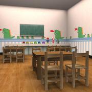 Kindergarten Klassenzimmer 3d model
