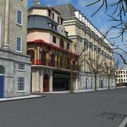 극장 거리 3d model