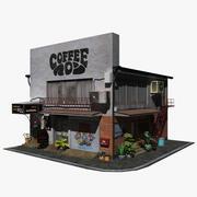Marron Coffee Shop 3d model