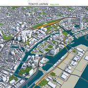 Tokio-Stadt in Japan 3d model