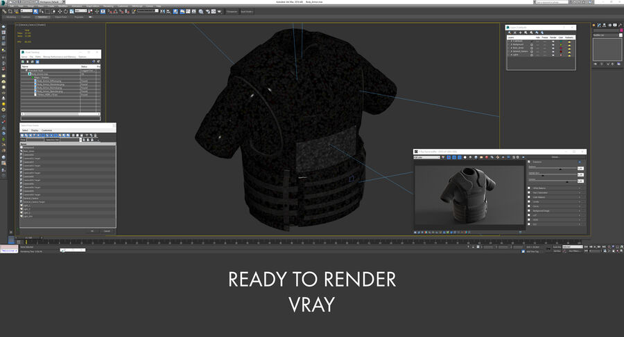 Body Armor royalty-free 3d model - Preview no. 24