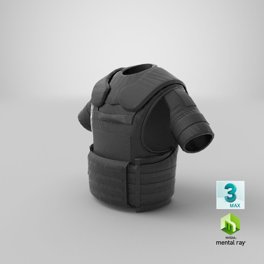 Body Armor royalty-free 3d model - Preview no. 31