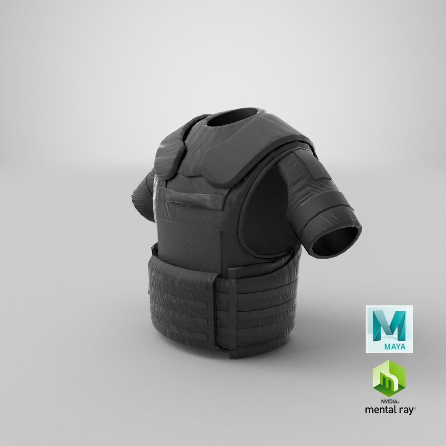 Body Armor royalty-free 3d model - Preview no. 33