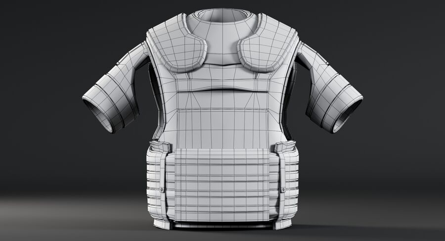 Body Armor royalty-free 3d model - Preview no. 15