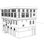 heritage building rabaa elkhayabia in fowa city 3d model