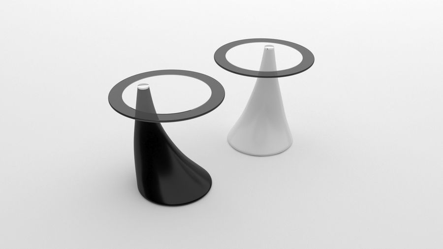 Nowoczesny stolik kawowy royalty-free 3d model - Preview no. 4