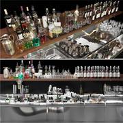 가장 큰 알코올 바 세트 3d model