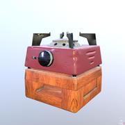 Estufa de gas modelo 3d