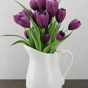 Цветы в банке 3d model