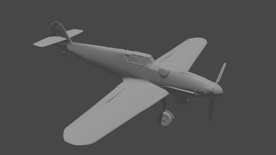 Bf-109 royalty-free 3d model - Preview no. 4